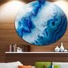 Geode Slice Macro' Abstract Circle Metal Wall Art