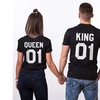 Unisex King Queen 01 Black Premium Shirt - Custom Oversized Bold HD Graphics