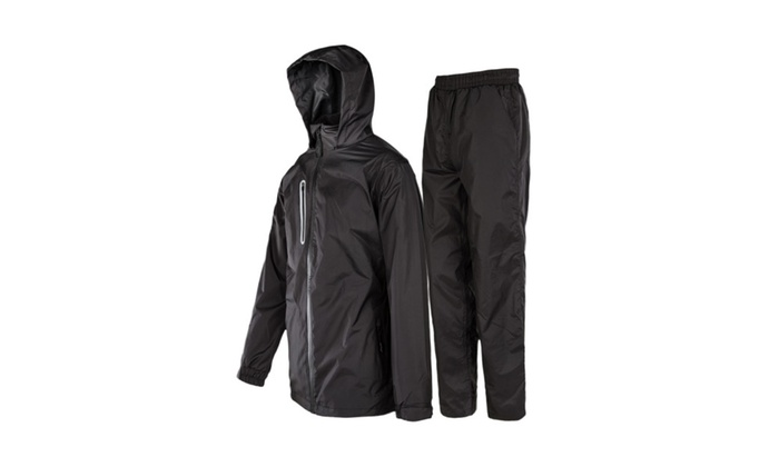 100% high quality high quality materials classic chic Rain Suit For Men Waterproof Hooded Rainwear (Jacket ...