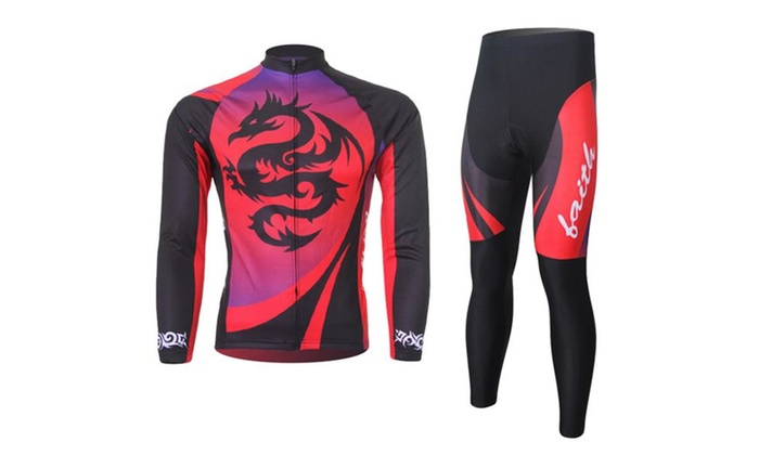 Men's Fall Quick Dry Long Sleeve Alfresco Cycling Jersey Set