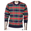 Men's Gentlemen Casual Stripes Knitwear Pullover Sweater