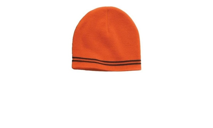 af57beff3be Sport-Tek STC20 Spectator Beanie Deep Orange   Black - One Size ...