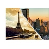 Philippe Hugonnard Sunset in Paris and New York Canvas Print