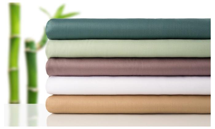 Natural Bamboo Fibers 4 Piece Sheet Set ...