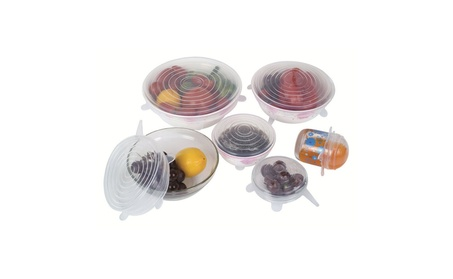 6 Pcs Silicone Stretch Lids Reusable Durable Expandable Food Cover 42600653-18d8-483e-9e9f-1c5ad7d7e572