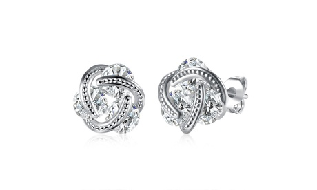 Sterling Silver Floating crystal Earrings with crystals from Swarovski