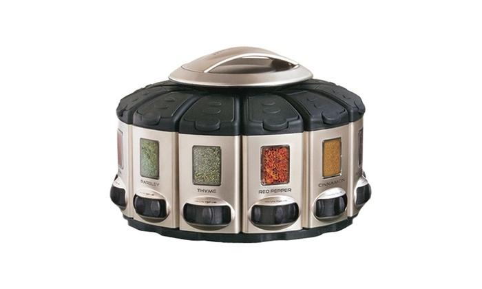 Kitchen Art 57010 Select A Spice Auto Measure Carousel Professional