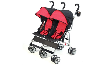 Kolcraft Cloud Kids Side-by-Side Double Umbrella Stroller a70fa7b0-159b-4d02-ac4c-8686e08040e6