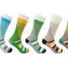 SILKEN SOCKS Men's Winsome Cotton 5 Pair Color Fashion Designed Socks