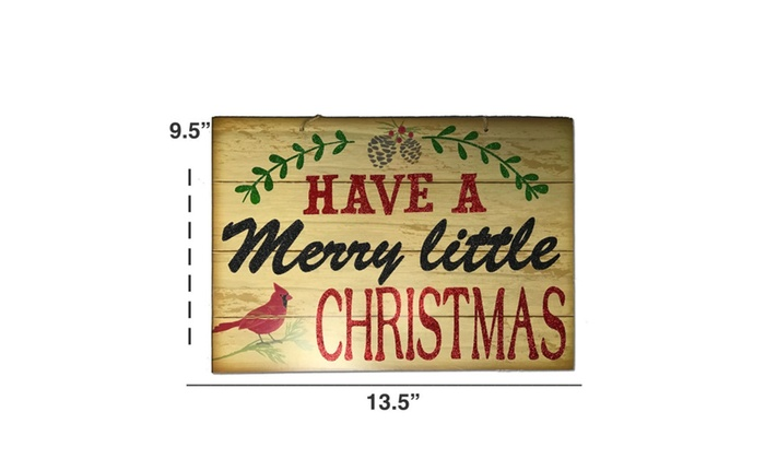 christmas decorations for your home set of 3 wooden christmas signs - Wooden Christmas Signs