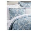 Pottery Barn JACQUARD MEDALLION Duvet Cover ~ blue