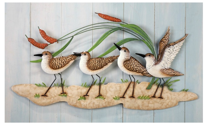 Sandpiper Beach Theme Metal Wall Art | Groupon