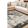 Closeout Discount: LR Home Matrix Distressed White / Brown Rectangle Indoor Rug