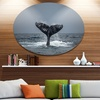 Large Humpback Whale Tail' Disc Oversized Animal Wall Art