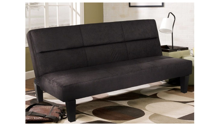 Microfiber Futon Folding Sofa Bed Couch Mattress Storage