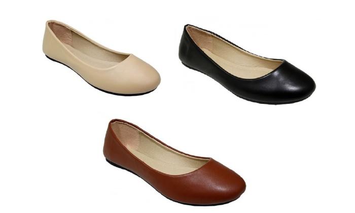 P26 Womens Ballerina Ballet Flat Shoes