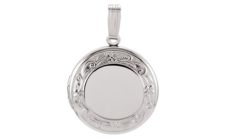 Sterling Silver Round Locket 92d8932b-1106-4a32-92cb-7c176d911829