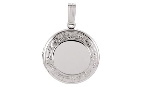 Sterling Silver Round Locket f01cbda0-b2ce-44e4-bbfc-9bee2f262494