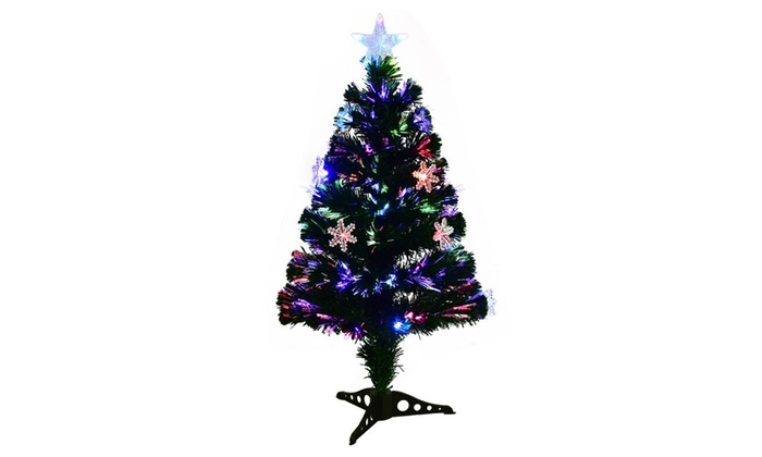 3FT Pre Lit Fiber Optic Artificial Christmas Tree W/Multicolor Lights