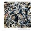 Silver On Black by Jackson Pollock