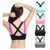 4 Pack Womens Racer back Sports Bras Padded High Impact Workout