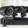 FLOUREON 4-Camera Outdoor Security System and DVR