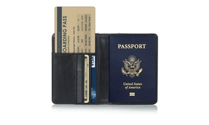 Passport Travel Leather holder RFID card Case Protector Cover Wallet