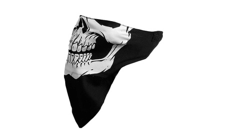 Seamless Skull Face Tube Mask Headwear for Bikers and Costume Parties fabc6f46-ca90-4fce-bd6b-ebad76396e06