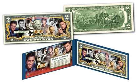 Elvis Presley Colorized U.S. $2 Bill