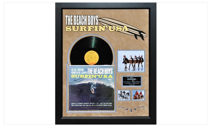 Beach Boys Surfin Usa Signed Album Custom Framed