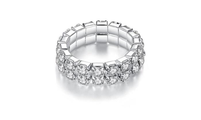 Silver Elastic Full Crystal Rhinestone