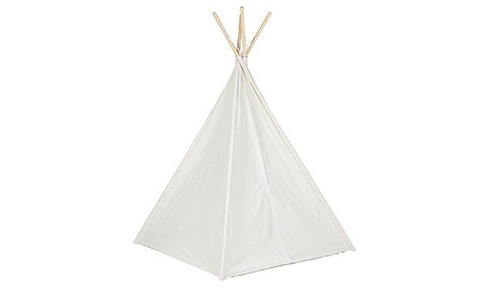 Best Choice Products 6u0027 White Teepee Tent Kids Indian Playhouse  sc 1 st  Groupon & Best Choice Products 6u0027 White Teepee Tent Kids Indian Playhouse ...