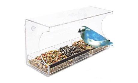 Solar Window Bird Feeder (Goods For The Home Patio & Garden Bird Feeders & Food) photo