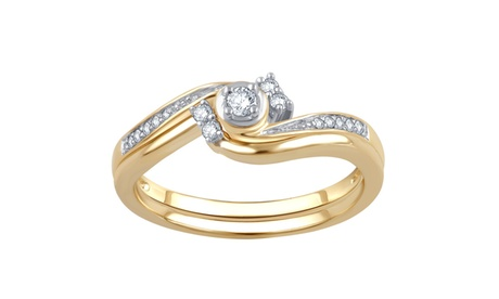 1/6 Cttw Diamond Bridal Ring Set in 10K Yellow Gold-R-13189FY6SC