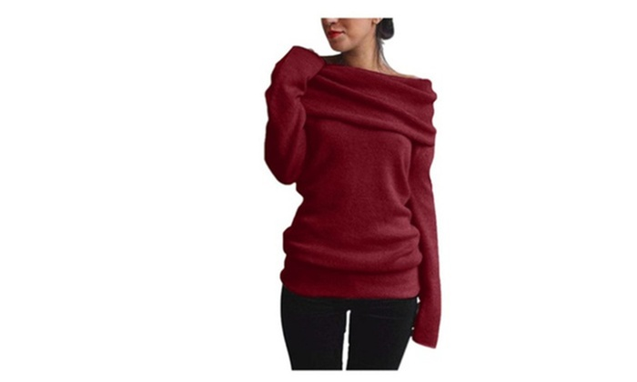 Up To 80 Off On Womens Off Shoulder Cowl Nec Groupon Goods