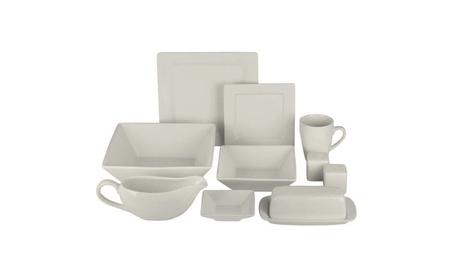 Nova 24-Piece Square Dinnerware Set Plus 10 Bonus Serving Pieces fe6e58eb-e225-40de-aff6-a4c6d68b8d55