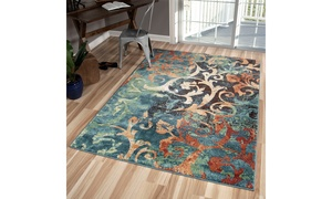 Watercolor Scroll Area Rug