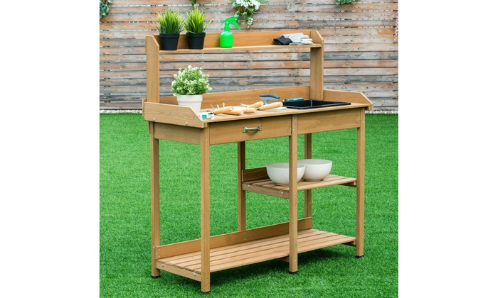 Fabulous Up To 45 Off On Costway Potting Table Bench G Groupon Ibusinesslaw Wood Chair Design Ideas Ibusinesslaworg