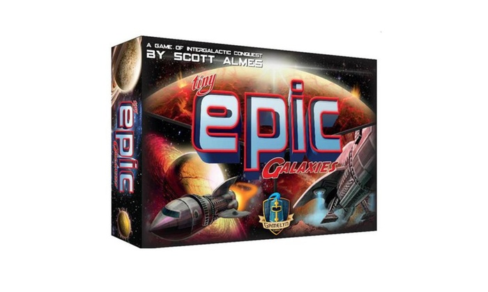 tiny epic galaxies gamelyn game dice roll cards board strategy space