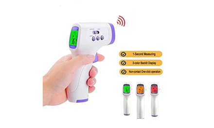 Digital Non-Contact Medical Infrared Forehead Thermometer Gun for Baby and Adult