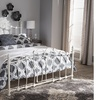 Darcy White Metal Platform Bed