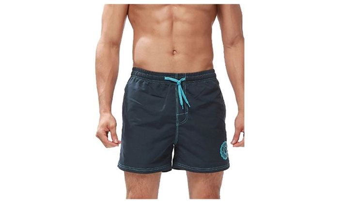 9e5bdd7aee Mens Swim Trunks Board Beach Shorts Solid Color Boardshorts | Groupon