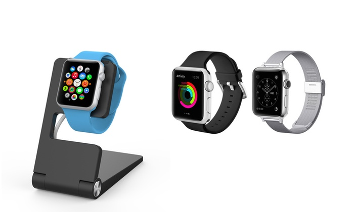 Charging Stand With 1 Or 2 Watch Bands Set For Le And Iphone