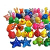 13Pcs Colorful Soft Rubber Float Squeeze Bathing Toy For Baby