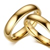 Vintage Tungsten Carbide Solid Gold-Color Couple's Ring