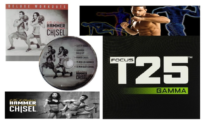 Masters Hammer & Chisel Deluxe Workouts + Focus T25 Gamma