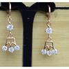 AamiraA 18K Gold Plated Crown Zircon AAA+ Designer Earrings Dangles