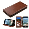 Insten Leather Fabric Case W/stand For Lg Optimus Zone 3/spree Brown