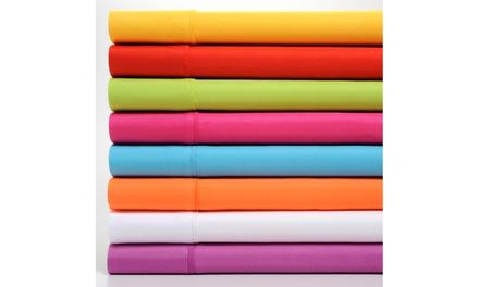 Premier Colorful Brights Brushed Microfiber 4 Piece Sheet Set