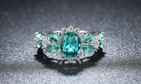 Leo Rosi Green Emerald Ring for Women Valentines Day's Gift